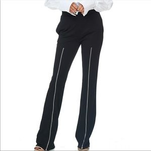 TOV Black Pants with Zippers on Bilateral Legs